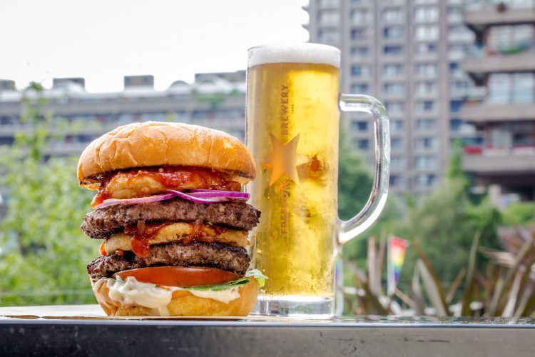 A Burger and Pint of Freedom Beer